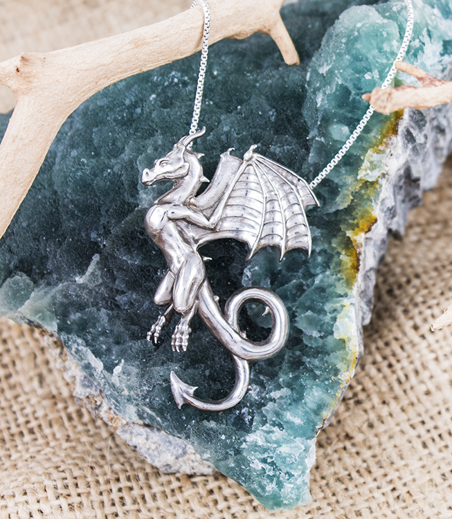 "The Wyvern 2"" long handcrafted sterling silver"