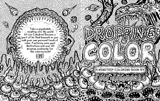 Dropping Color: A Mindtrip Coloring Book by Luis Colindres by Luis ...