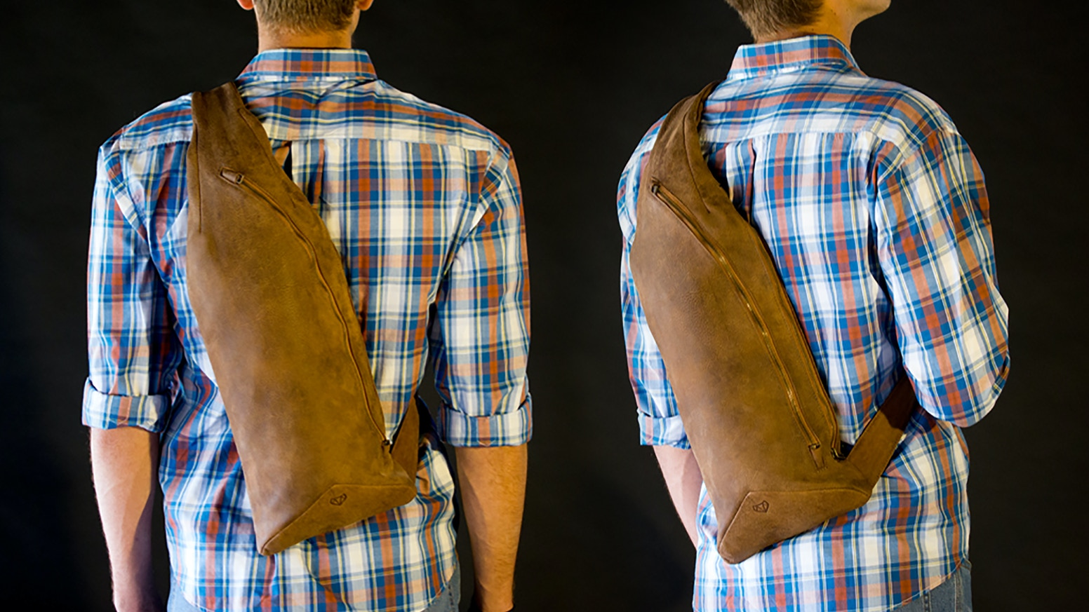 A new category of bag in handmade leather. The sweet spot between messenger and sling bags, to carry ALL your devices.