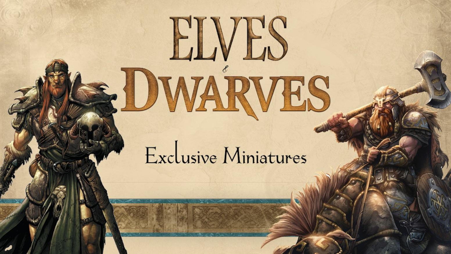 the lands of arran elves dwarves ks exclusive miniatures by