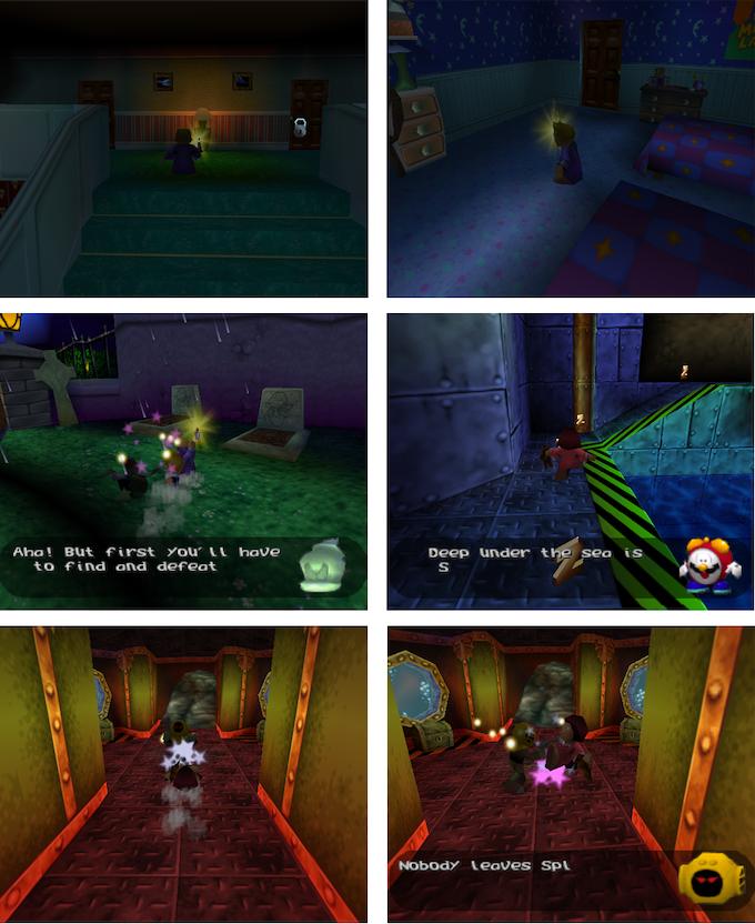 40 Winks N64 Screens