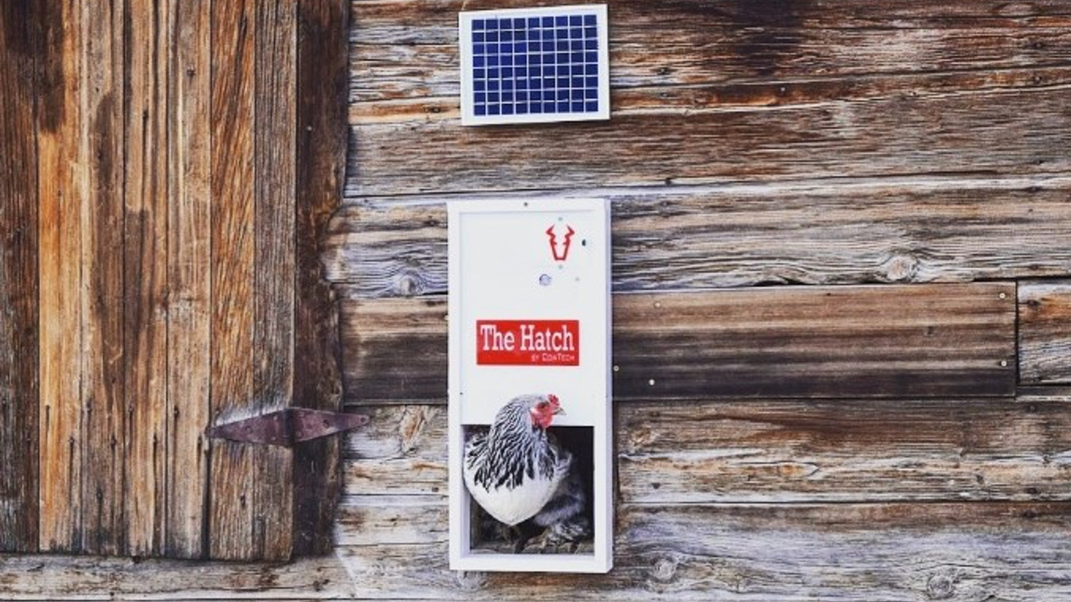 First Fully Automatic Temperature and Light controlled Chicken House Door with direct drive locking door, automated reentry, and more.