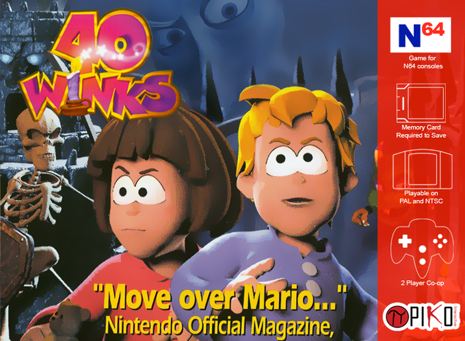 40 Winks N64 Box Cover