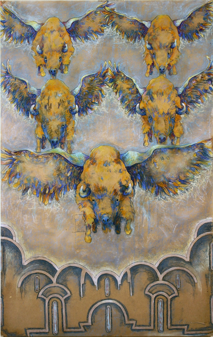 Limited edition Flying Blue Buffalo print.