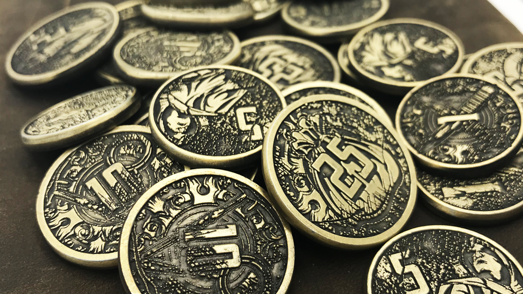 Metal Gaming Coins: The Fantasy Series by D20 Collective project video thumbnail