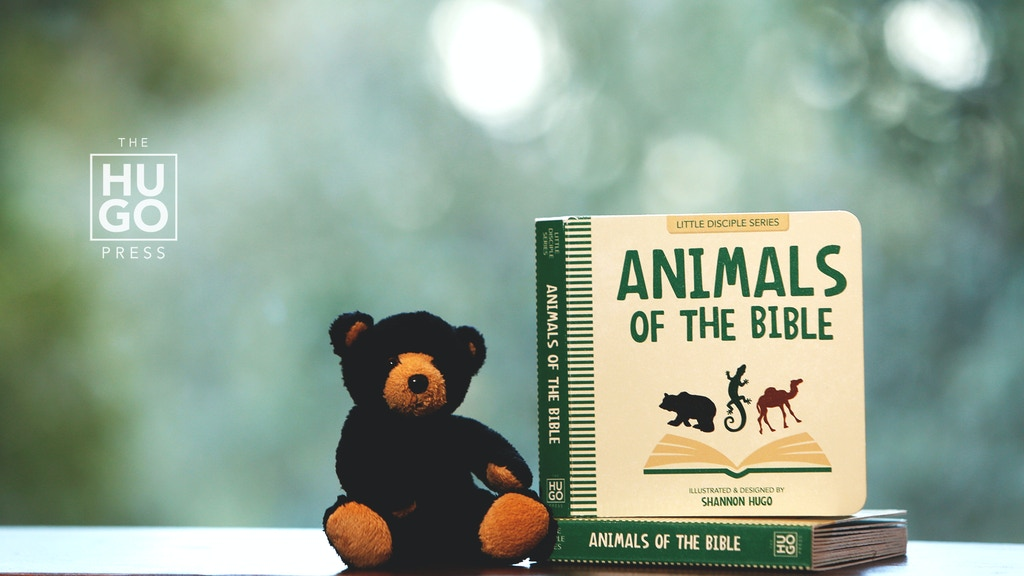 animals of the bible children s board book by the hugo press