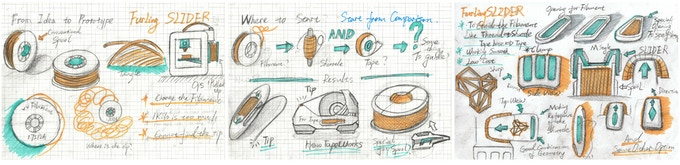 Sketches from early R&D