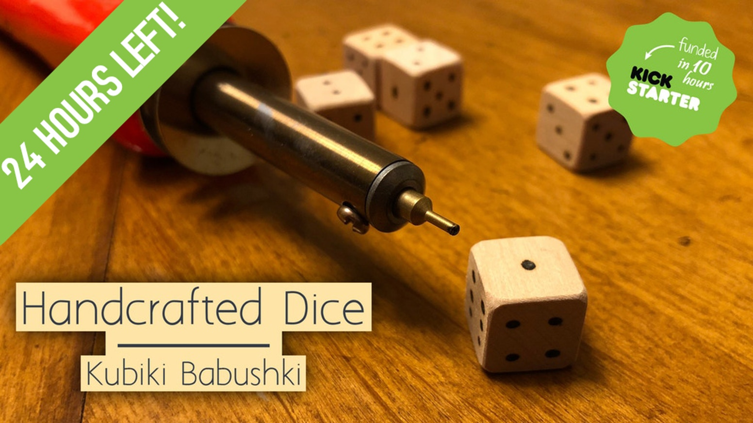 Simple and cheap handmade dice crafted to help bring families together during a game night. New card game coming next month!