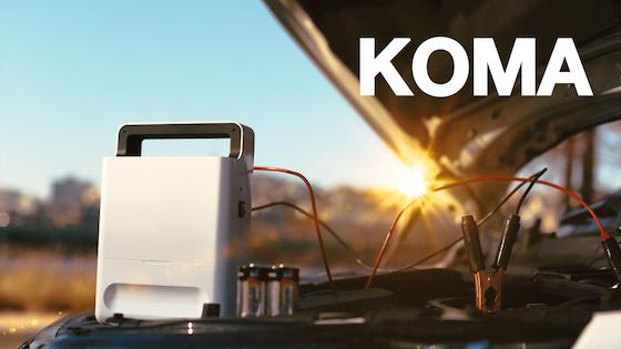 KOMA: D-type Battery Powered Vehicle Jump Starter