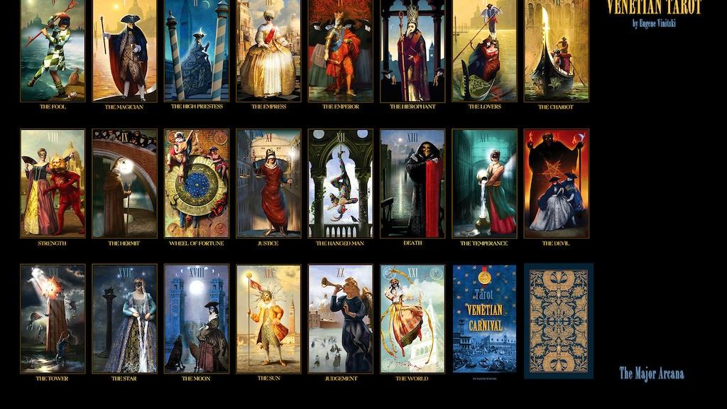 The Mini Venetian Tarot Cards Deck By Eugene Vinitski