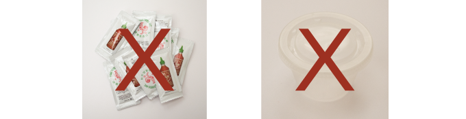 Don't get buried in the pile of hot sauce packets or endless stacks of plastic containers. Help the environment by using Picoso to refill everytime you go out to eat.