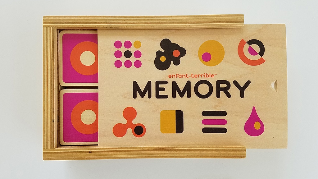 Colorful Wooden Memory Game with a Twist