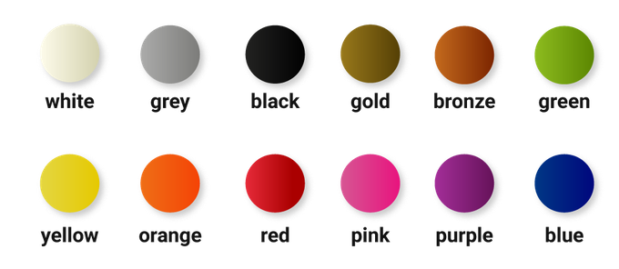 12 available colors of recycled PS - OWA 3D filaments