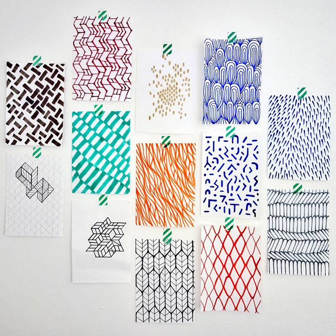 Hand drawn patterns research for digital making