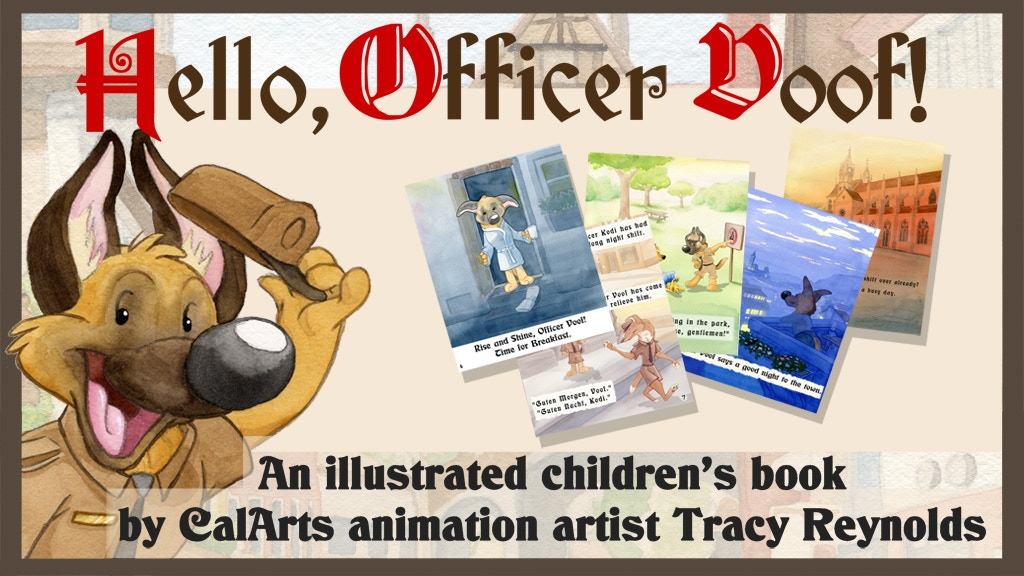 """""""Officer Voof"""" Illustrated Children's Book project video thumbnail"""