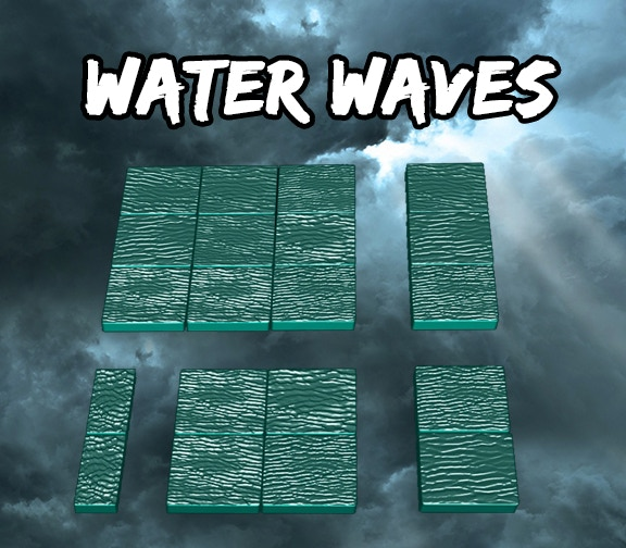 Water Waves Square Tiles