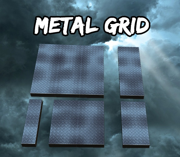 Metal Grid Square Tiles