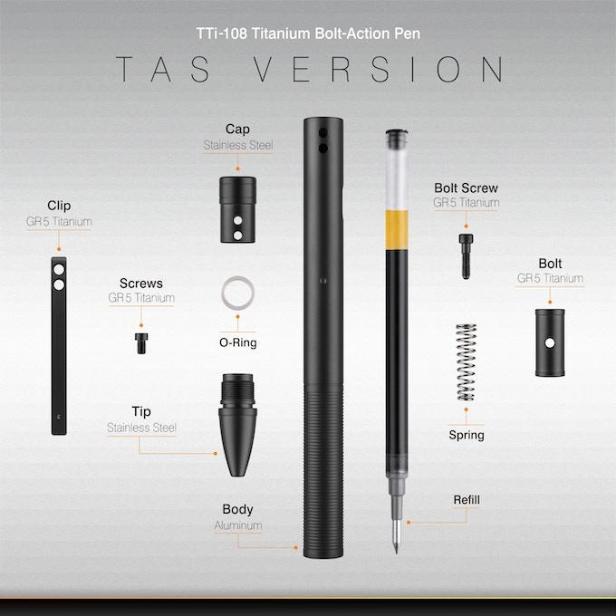 TTi-108 Titanium Bolt Action Roller Pen by Eyepetizer — Kickstarter
