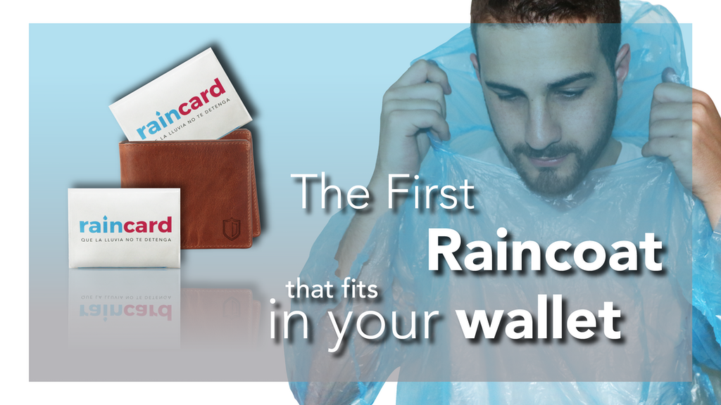 Raincard - The First Credit Card sized raincoat