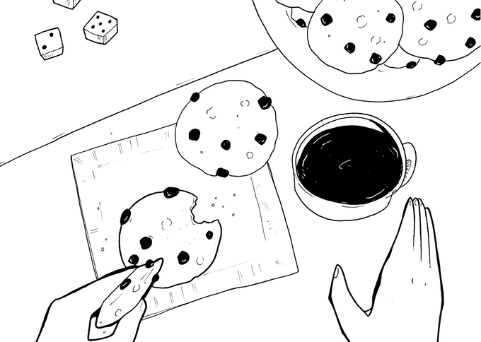 There was nothing like a cookie, some coffee, and Yahtzee with Gram.