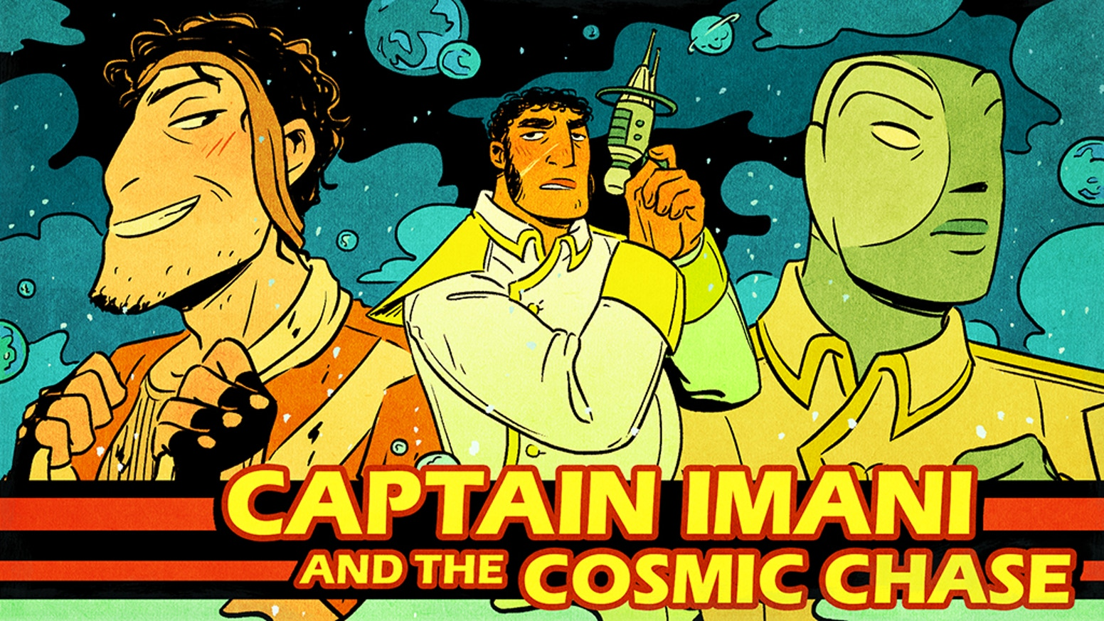 The sexy adventures of a space-captain, his first mate and his sworn enemy collected into a full-colour erotic graphic novel!
