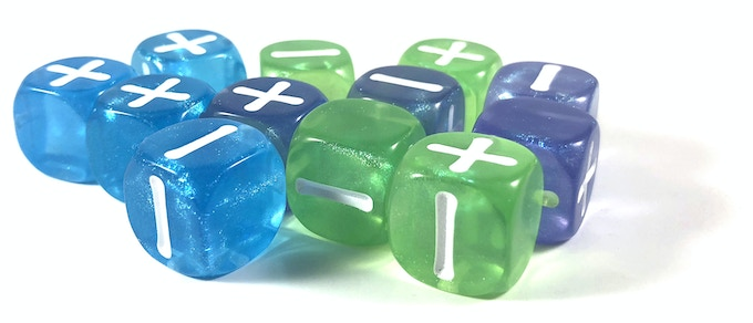Shiny! Our Accelerated Core Fate Dice set is one of our initial funding goals, but there's more that follows!