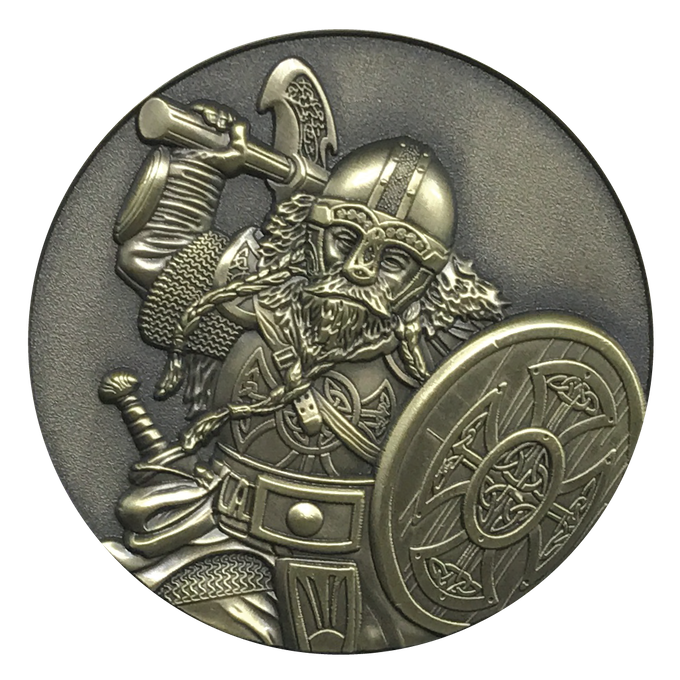 Dwarf.  This is a 3D character that can be chosen for a d20 Dice Coin.