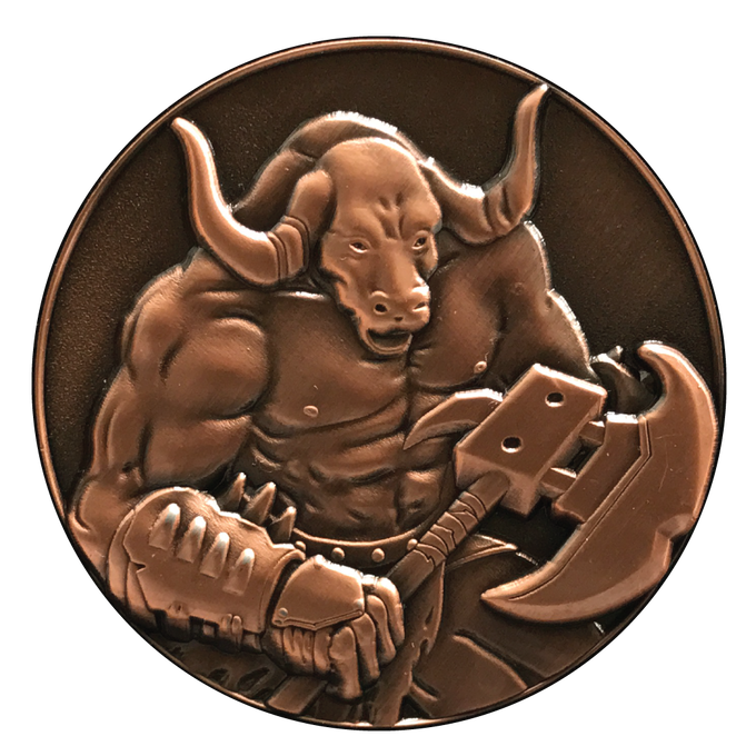 Minotaur.  This is a 3D character that can be chosen for a d20 Dice Coin.
