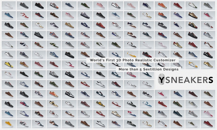 Customize your sneaker masterpiece with YSNEAKERS, with over 5 sextillion possible designs you will walk away with a truly unique pair!
