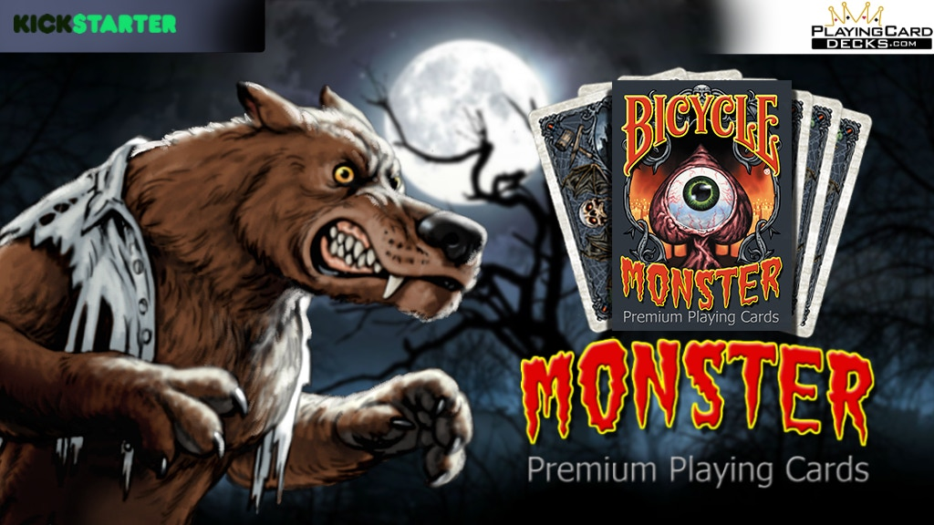 Monster Bicycle Playing Cards Poker Size Deck Custom Limited project video thumbnail