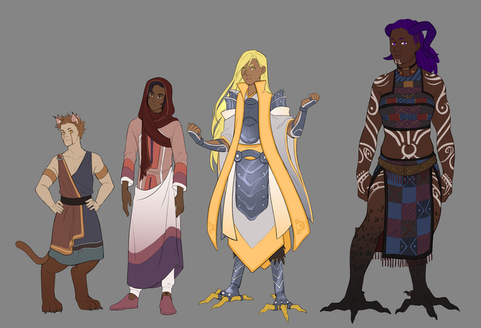 Playable Character Races Size Comparison