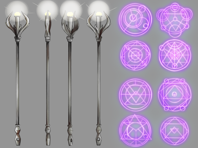 Arikt́ and Hasma Weapons and Magical Effects