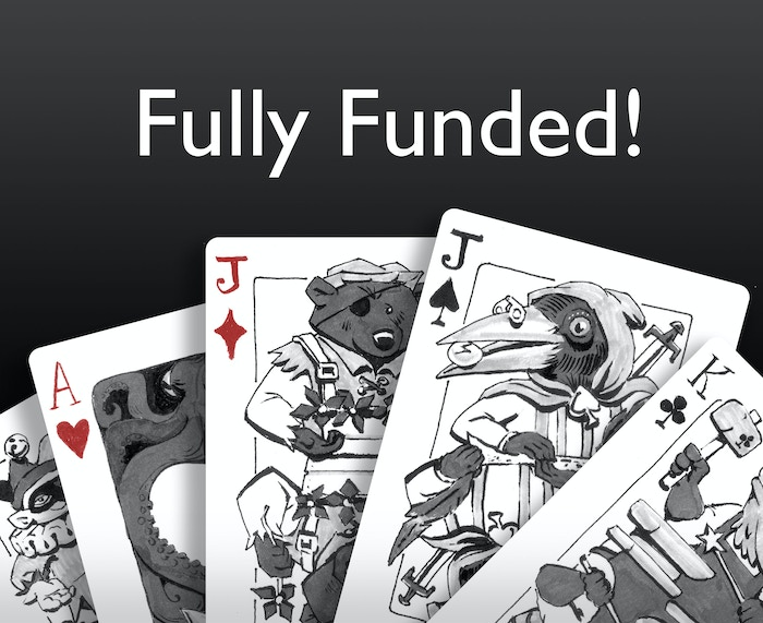 Hand-drawn playing cards—jokers, aces, and face cards loaded with symbolism specific to suit and rank!