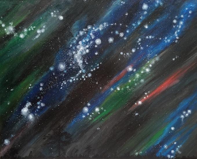 """""""Night Sky"""". Leah Porter, Acrylic on Canvas"""