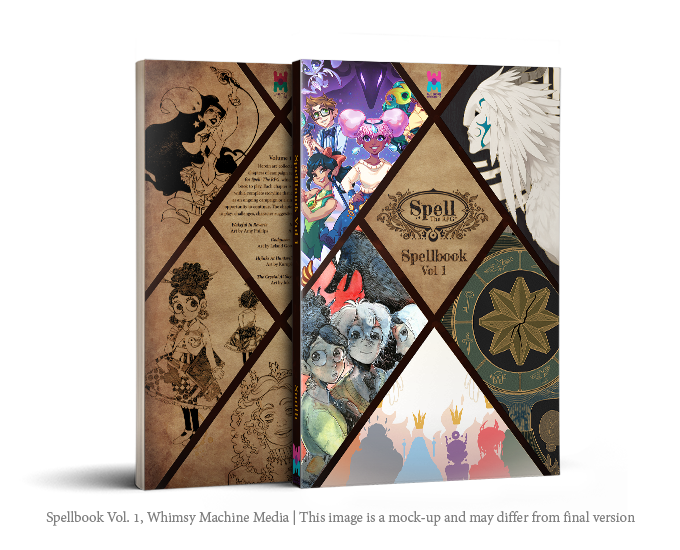 Spellbook Vol. 1 front and back cover mock-up