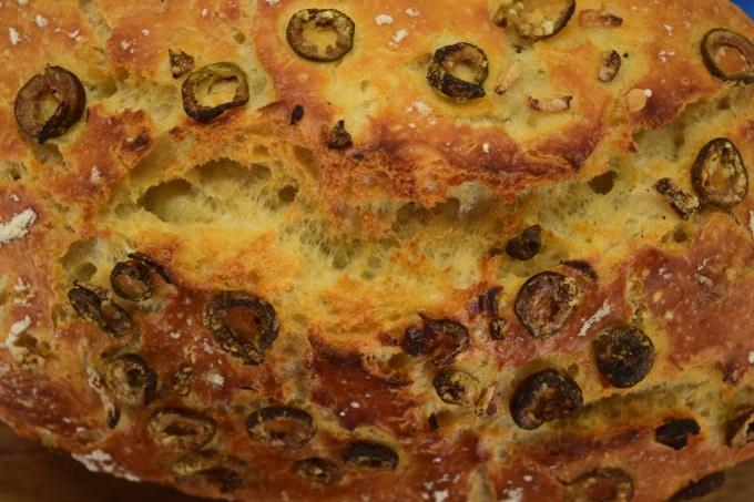 Oven Spring: Olive and Garlic loaf made with LoafNest