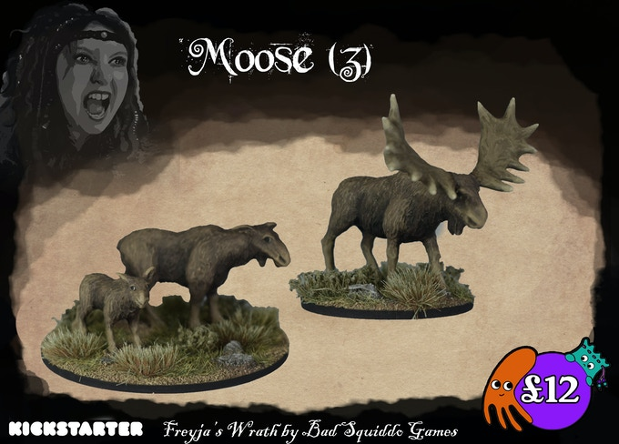Three moose cast in pewter. Four peices total, the antlers fit on top of the head. These are some hefty chunks of metal & so characterful.