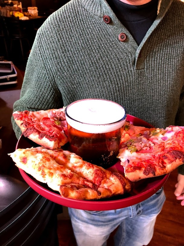 Pizza & Beer - Pint Glasses are a perfect combo for TrayCups