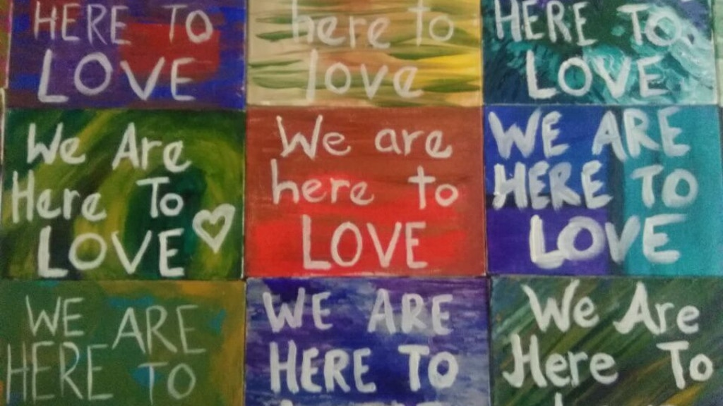We Are Here To Love Make 100 Paintings project video thumbnail