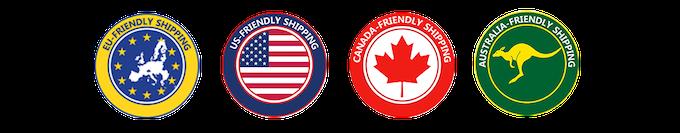 Worldwide Friendly Shipping