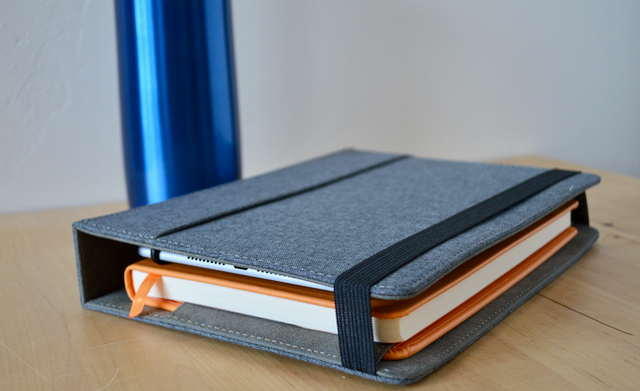 Matte Black Faux Leather or Crosshatch Grey Folio Choices