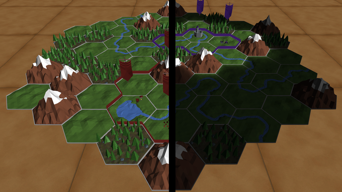 For example, you can choose whether or not you see the whole map or just your own territories.