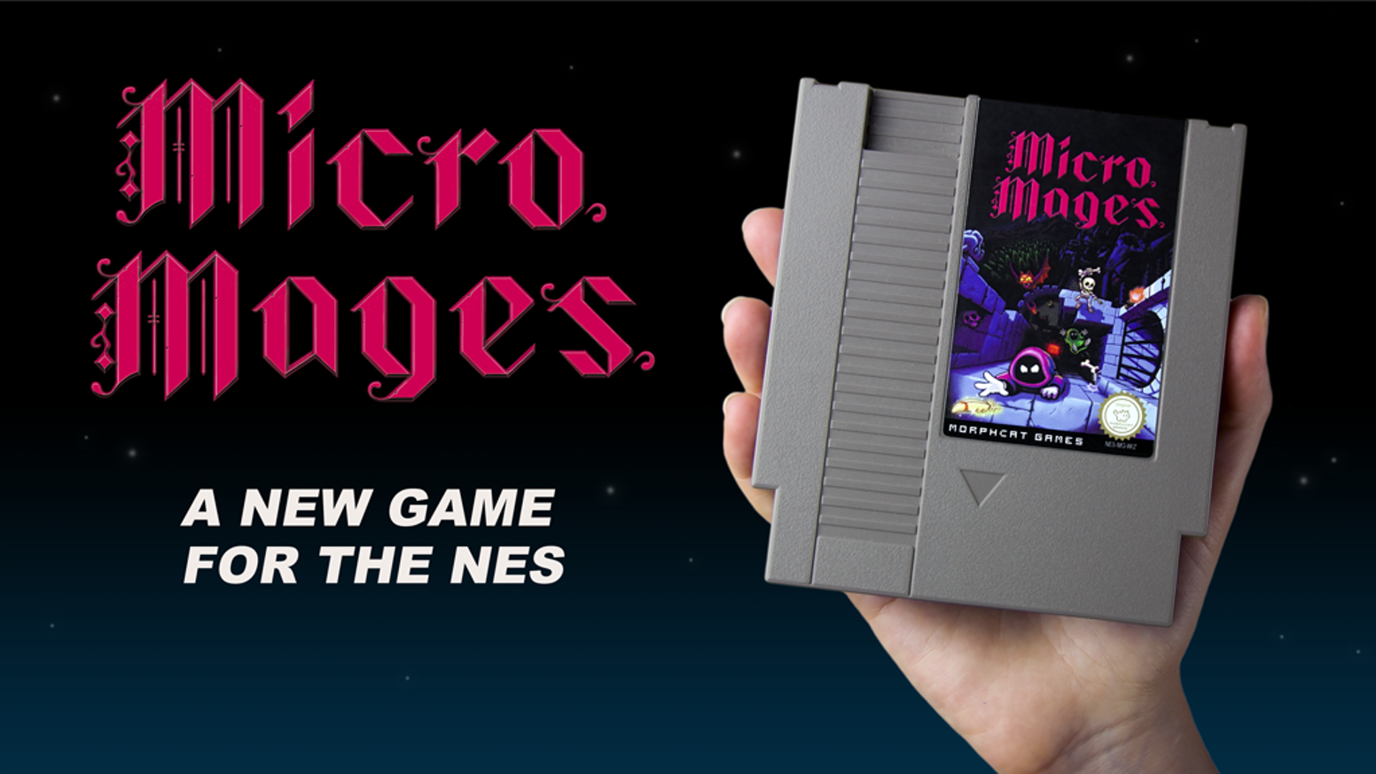 Micro Mages is a platform game for 1-4 players. Available on a real NES cartridge and many other platforms via emulation.
