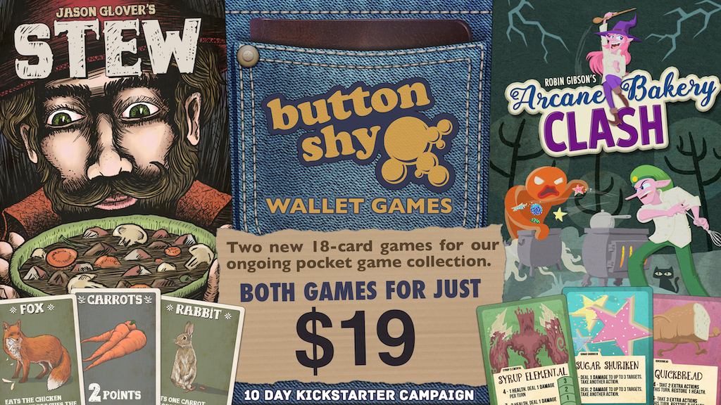 Button Shy Wallet Games: Stew & Arcane Bakery Clash project video thumbnail