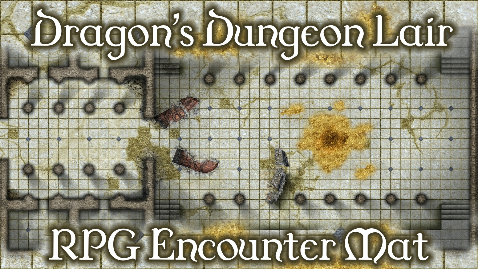 BattleMats: Dragon's Dungeon Lair Giant RPG Encounter Mat by