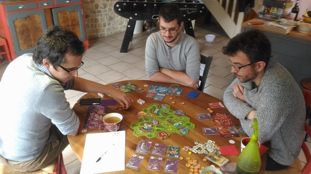 Frédéric, Rodolphe and Benjamin playing the campaign of CoR.