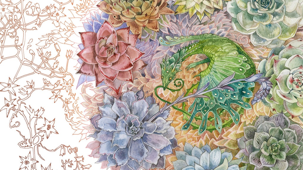 Succulent Dragons: a coloring and art book by Stephanie Law project video thumbnail