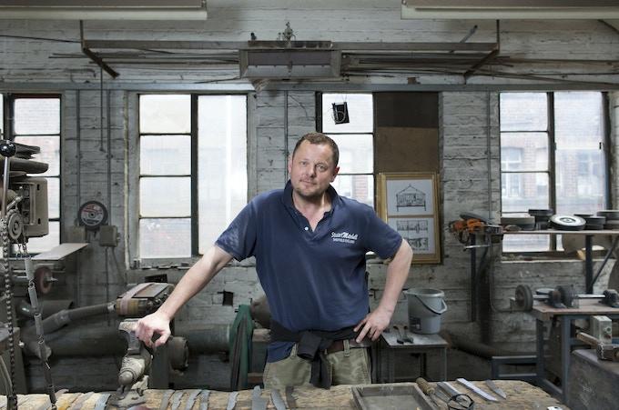 Stuart Mitchell's Workshop, Sheffield.