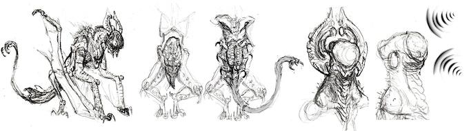 Nightgaunt Concept Drawings