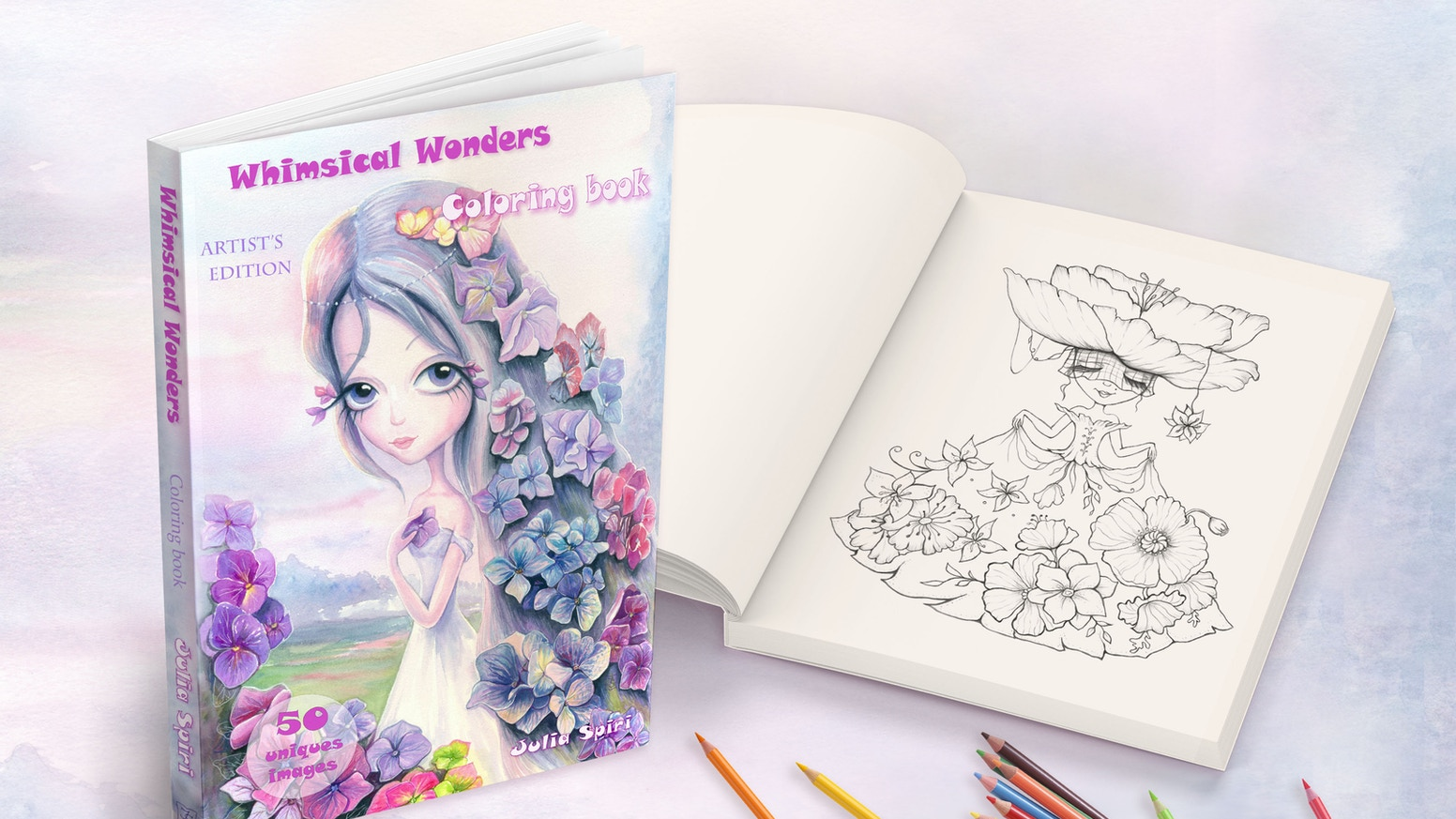 Whimsical Wonders Coloring Book For Adults By Julia Spiri By Julia